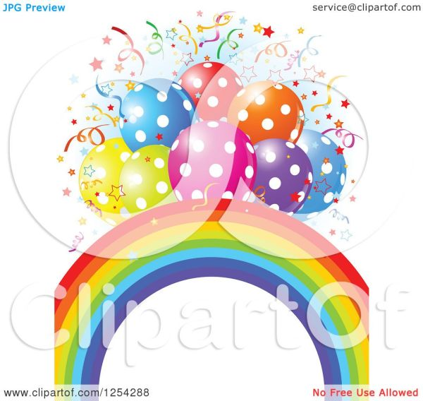 clipart of rainbow arch and colorful