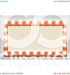 clipart of a rectangular retro marquee theater sign with light bulbs on gray royalty free [ 1080 x 1024 Pixel ]