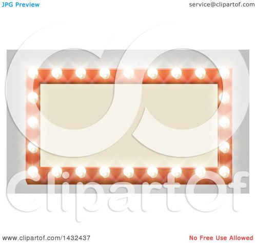 small resolution of clipart of a rectangular retro marquee theater sign with light bulbs on gray royalty free