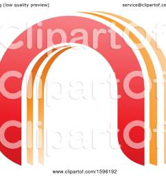 clipart of a red and orange arched letter n logo royalty free vector illustration by cidepix [ 1080 x 1024 Pixel ]