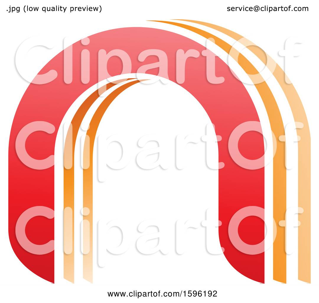 hight resolution of clipart of a red and orange arched letter n logo royalty free vector illustration by cidepix