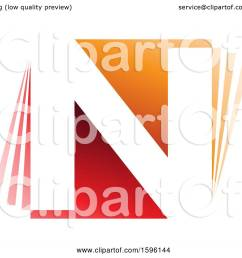 clipart of a red and orange letter n logo royalty free vector illustration by cidepix [ 1080 x 1024 Pixel ]
