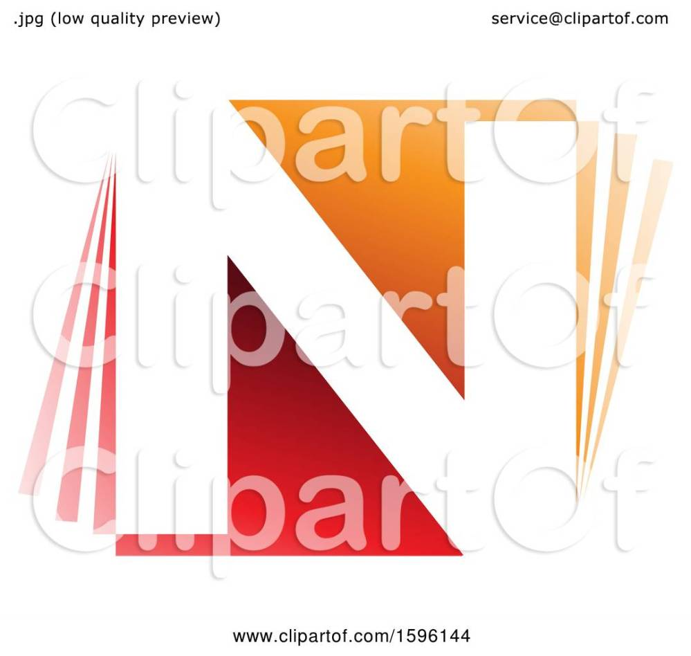 medium resolution of clipart of a red and orange letter n logo royalty free vector illustration by cidepix