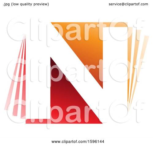 small resolution of clipart of a red and orange letter n logo royalty free vector illustration by cidepix