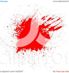 clipart of a red blood splatter on white royalty free vector illustration by kj pargeter [ 1080 x 1024 Pixel ]