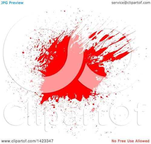 small resolution of clipart of a red blood splatter on white royalty free vector illustration by kj pargeter