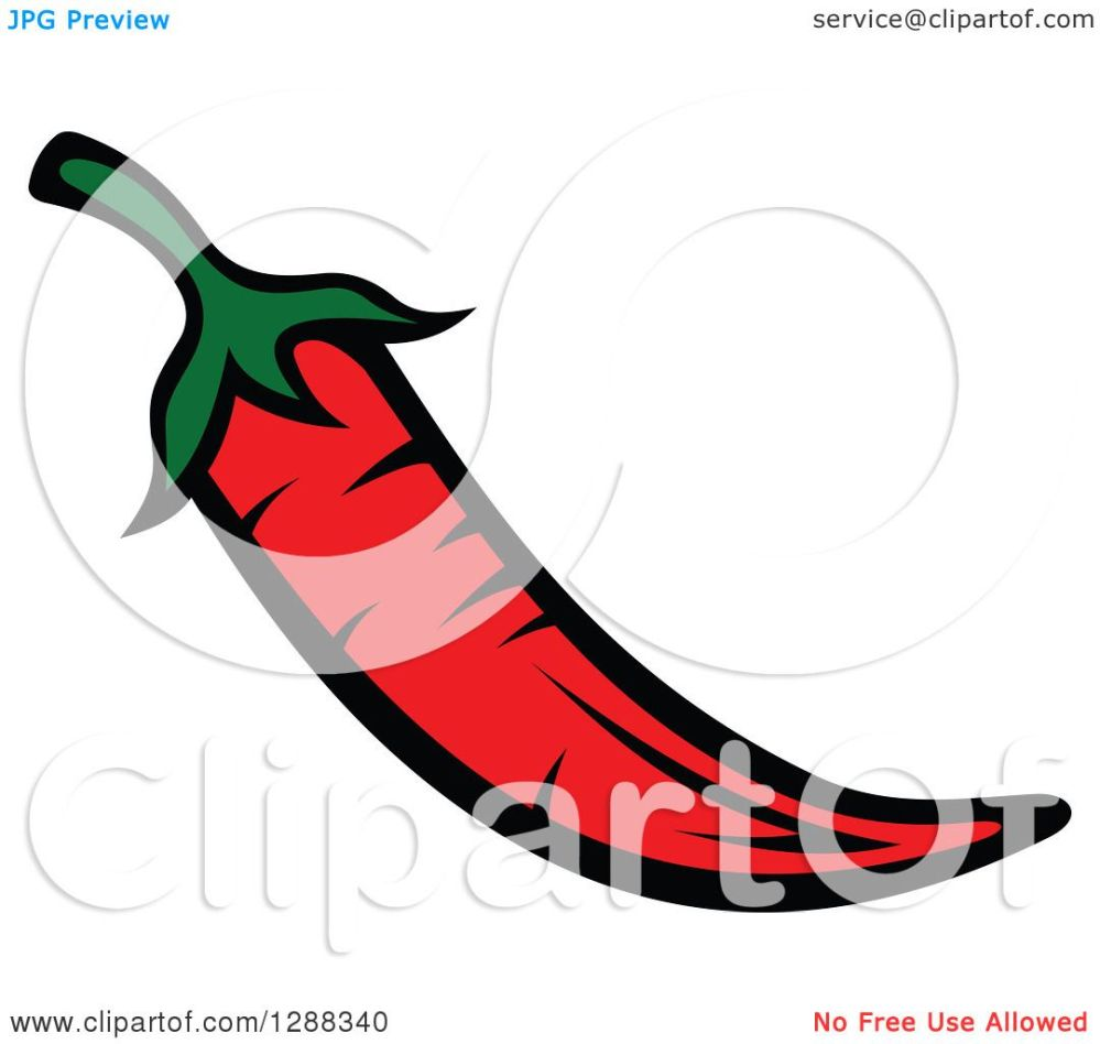 medium resolution of clipart of a red chili pepper royalty free vector illustration by vector tradition sm