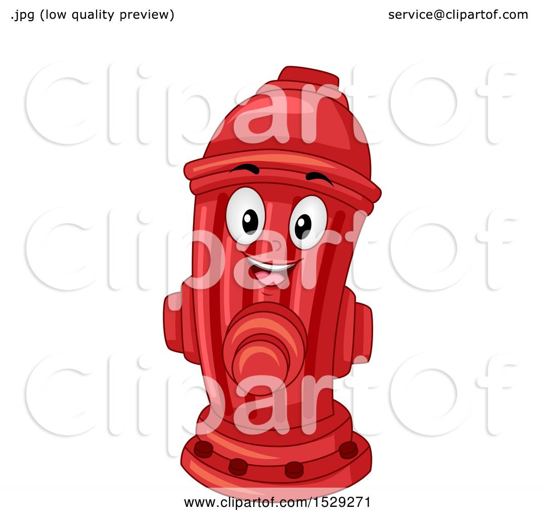 hight resolution of clipart of a red fire hydrant mascot royalty free vector illustration by bnp design studio