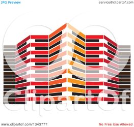 orange building illustration clipart royalty colormagic vector