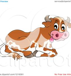 clipart of a resting dairy cow royalty free vector illustration by visekart [ 1080 x 1024 Pixel ]