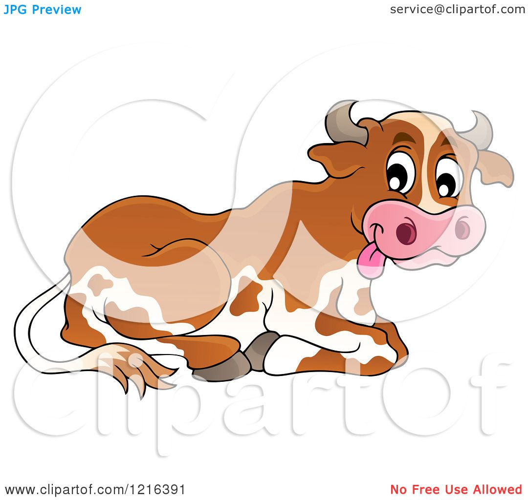 hight resolution of clipart of a resting dairy cow royalty free vector illustration by visekart