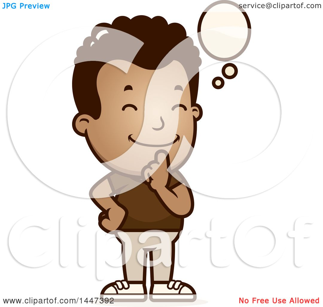 hight resolution of clipart of a retro african american boy thinking royalty free vector illustration by cory thoman