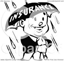 insurance umbrella clipart rain holding illustration retro royalty prawny vector notes clipartof regarding license