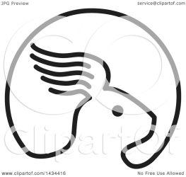 rabbit ear royalty clipart wing retro illustration patrimonio vector clip