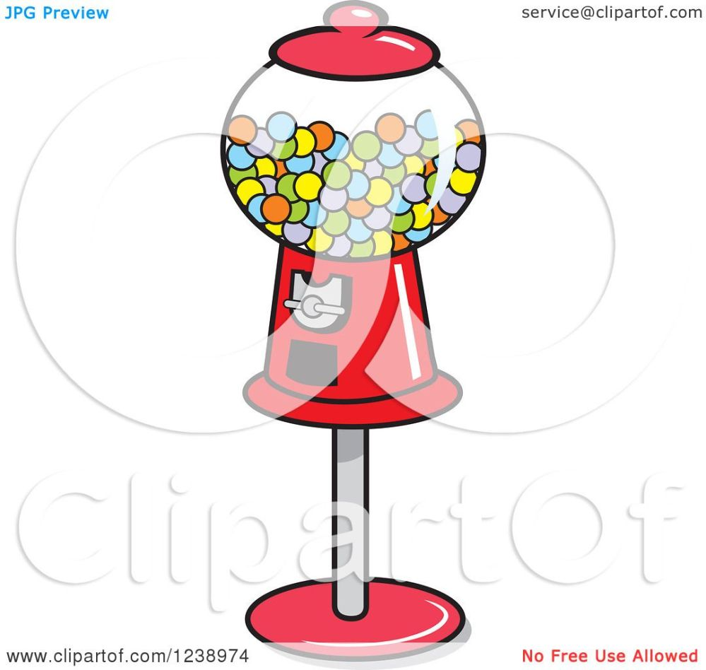 medium resolution of clipart of a retro red gumball machine royalty free vector illustration by johnny sajem