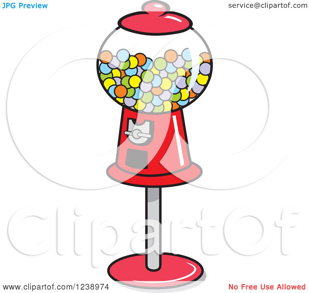 hight resolution of clipart of a retro red gumball machine royalty free vector illustration by johnny sajem