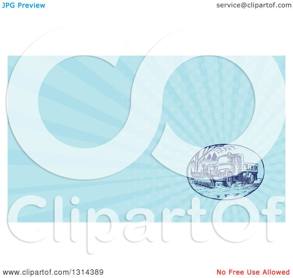 medium resolution of clipart of a retro sketched or engraved snow plow truck on a street and light blue rays background or business card design royalty free illustration by