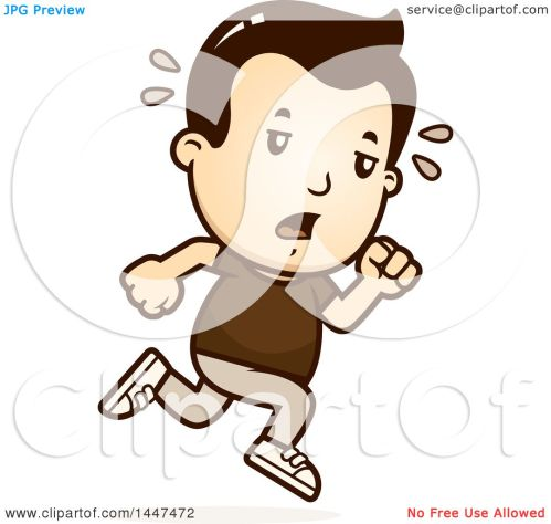small resolution of clipart of a retro tired white boy running royalty free vector illustration by cory thoman