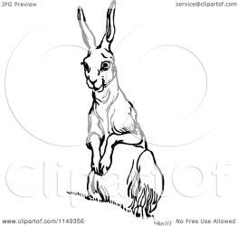 rabbit alert clipart illustration retro royalty vector prawny