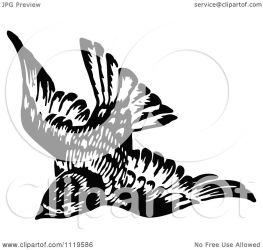 bird illustration flying clipart royalty vector retro prawny