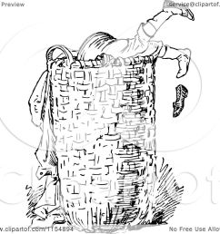 clipart of a retro vintage black and white boy digging in a laundry basket royalty free [ 1080 x 1024 Pixel ]