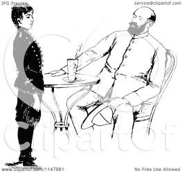boy talking standing tall retro clipart sitting illustration royalty vector prawny
