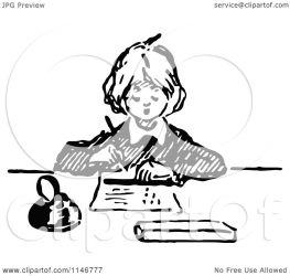 writing illustration boy clipart retro royalty prawny vector collc0178