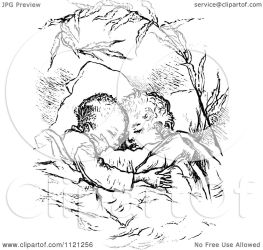 sleeping children clipart hugging illustration retro vector royalty prawny regarding notes