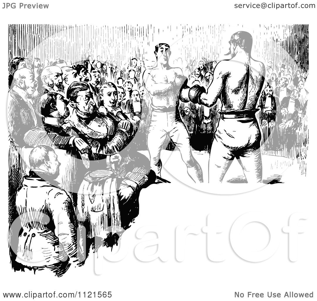 Clipart Of A Retro Vintage Black And White Crowd Watching