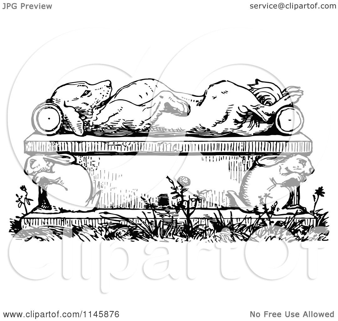 Clipart Of A Retro Vintage Black And White Dead Or