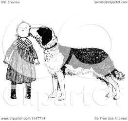 dog face clipart licking retro royalty illustration vector prawny clip transparent clipartof