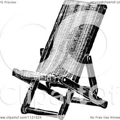 Deck Chair Images Decorative Chairs Cheap Clipart Of A Retro Vintage Black And White Folding
