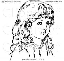face illustration retro clipart royalty vector prawny