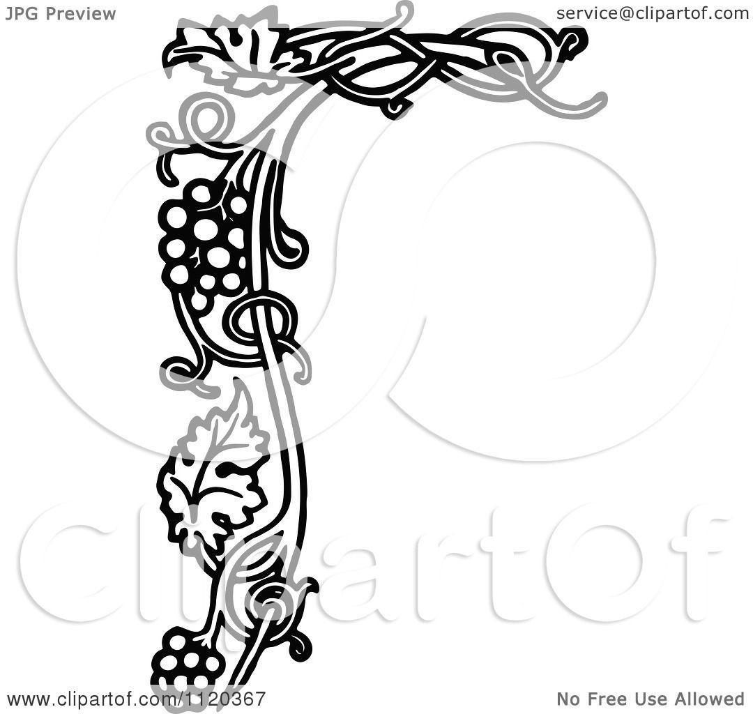 Clipart Of A Retro Vintage Black And White Gvine