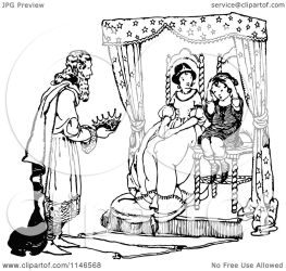 king giving crown boy queen clipart illustration he royalty retro vector sits prawny notes without