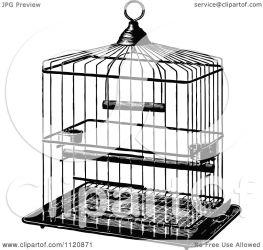 cage bird metal clipart retro illustration clip vector royalty prawny kid transparent background