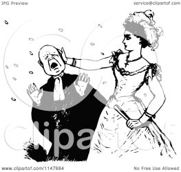 clipart slapping woman retro illustration royalty vector prawny copyright without regarding collc0178 protected license law