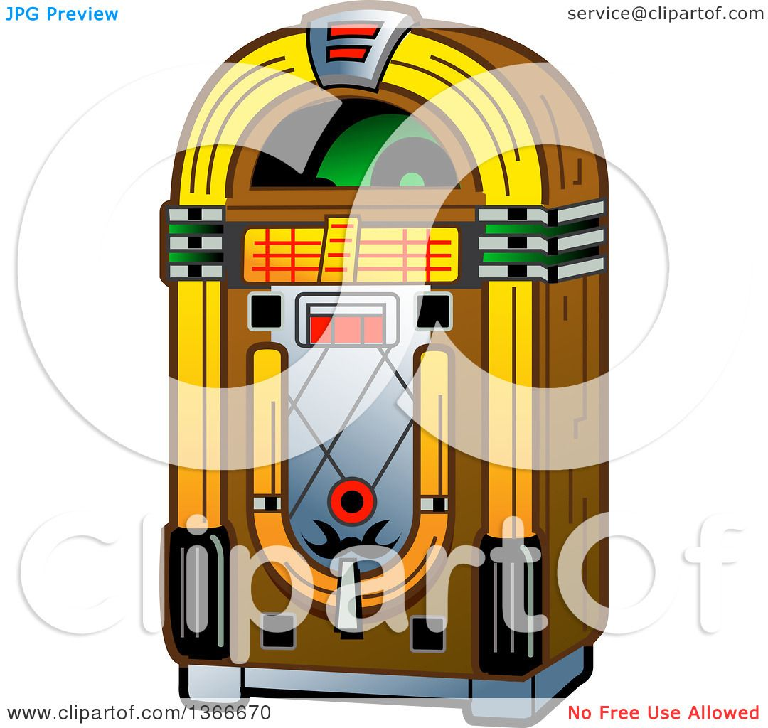 hight resolution of clipart of a retro vintage jukebox machine royalty free vector illustration by