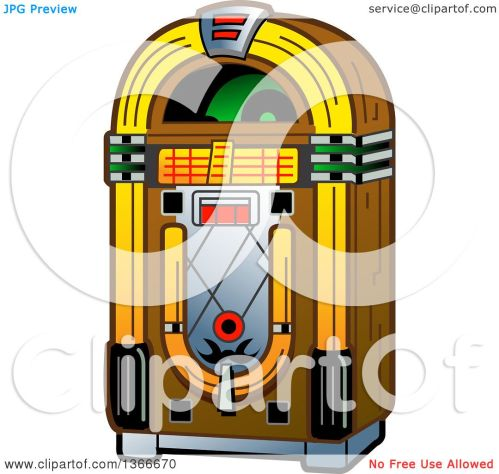 small resolution of clipart of a retro vintage jukebox machine royalty free vector illustration by