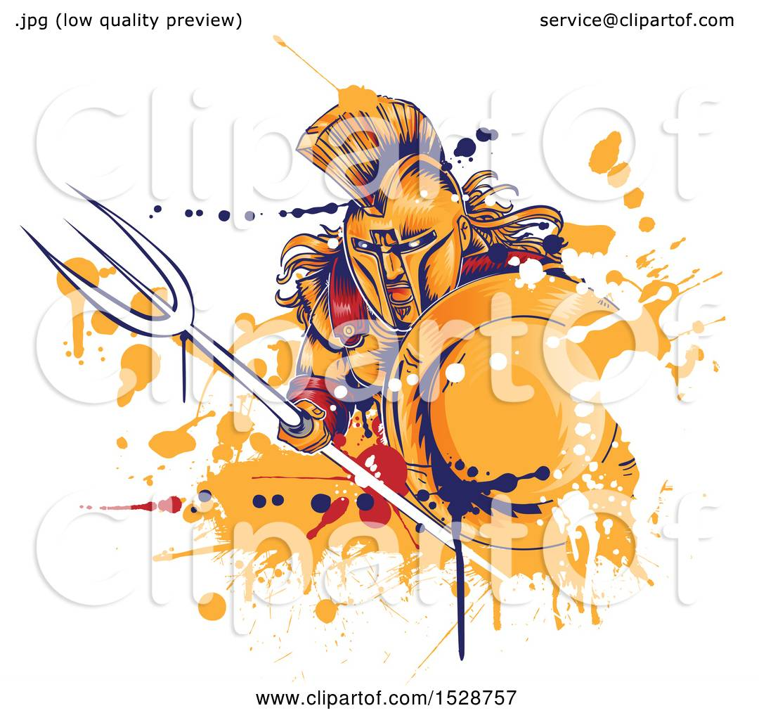 hight resolution of clipart of a roman warrior holding a spear and shield with grunge royalty free