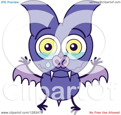 small resolution of clipart of a sad crying purple vampire bat royalty free vector illustration by zooco