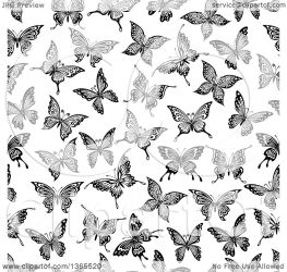 butterfly background pattern clipart illustration seamless vector royalty tradition sm