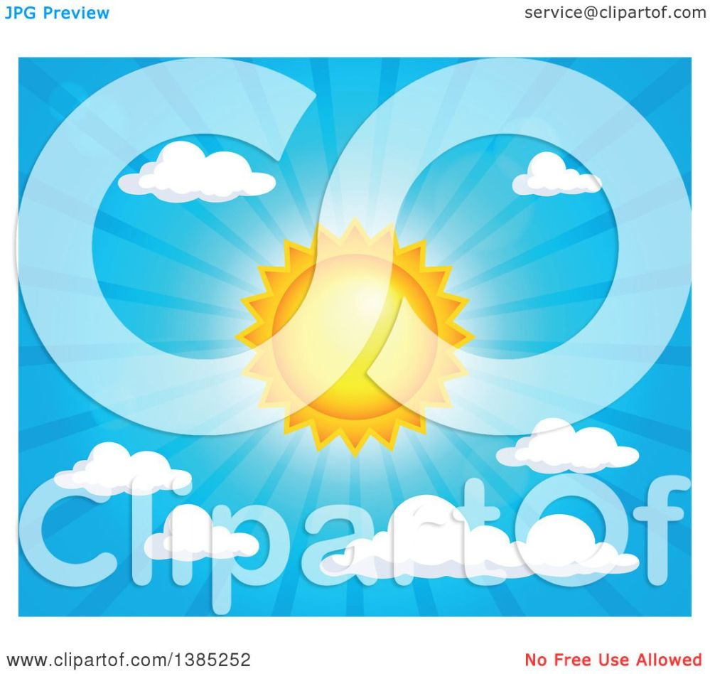 medium resolution of clipart of a shining sun in the sky royalty free vector illustration by visekart