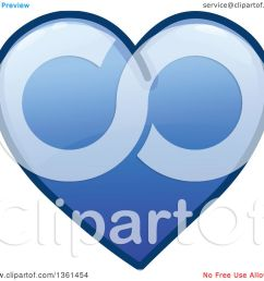 clipart of a shiny blue heart icon royalty free vector illustration by yayayoyo [ 1080 x 1024 Pixel ]