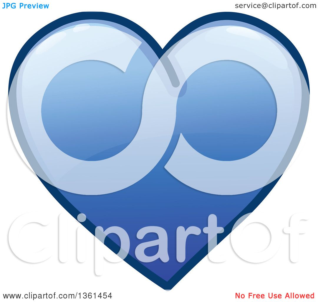 hight resolution of clipart of a shiny blue heart icon royalty free vector illustration by yayayoyo