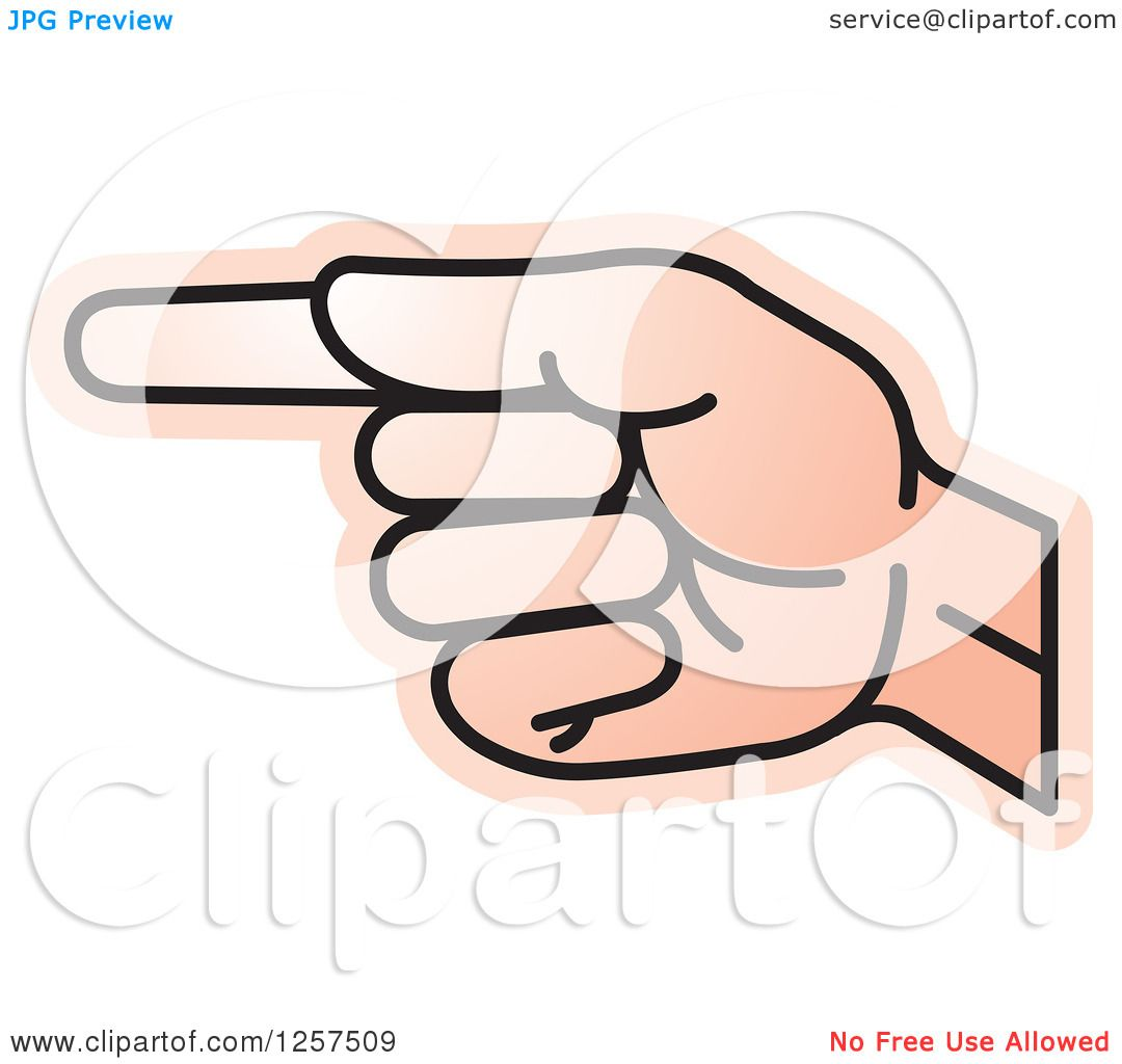 Clipart Of A Sign Language Hand Gesturing Letter G