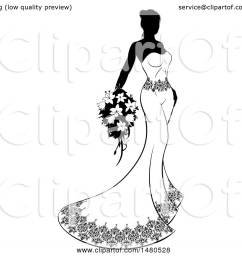 clipart of a silhouetted black and white bride with flowers royalty free vector illustration by [ 1080 x 1024 Pixel ]