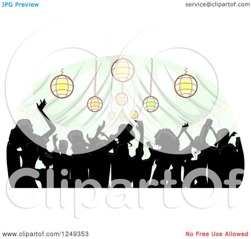 small resolution of clipart of a silhouetted crowd dancing inside a wedding reception party tent royalty free vector