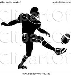 clipart of a silhouetted football player kicking royalty free vector illustration by atstockillustration [ 1080 x 1024 Pixel ]