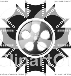 clipart of a silver black and white film reel design royalty free vector illustration by [ 1080 x 1024 Pixel ]